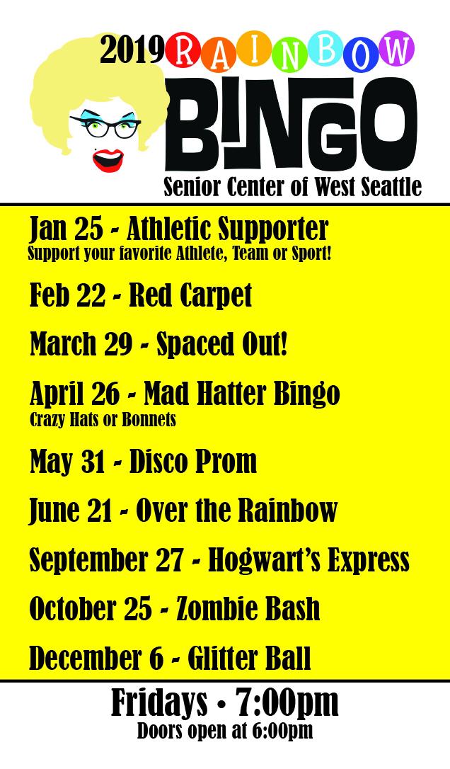 Rainbow Bingo – Senior Center of West Seattle